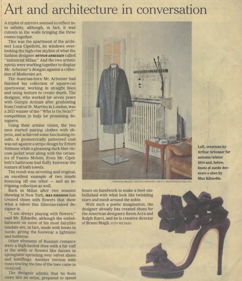 International New York Times   22-23 February / 2014